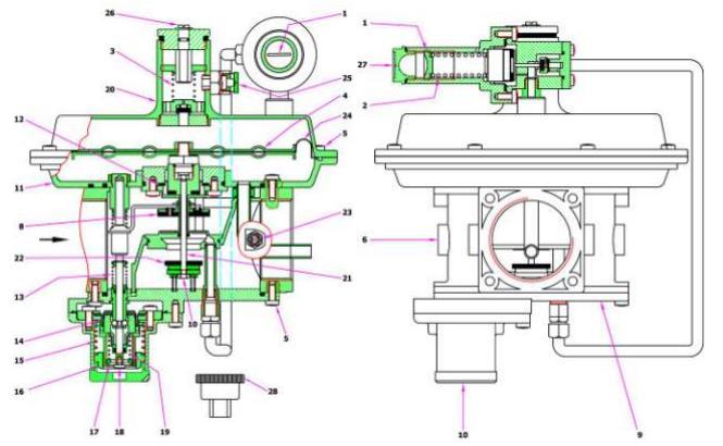 Регулятор давления газа MADAS FRG/2MТX