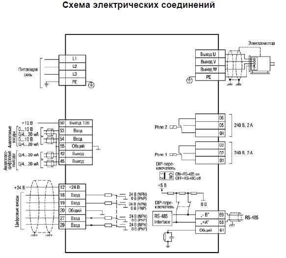 Схема подключения пчв3