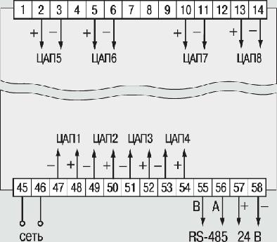 Схема подключения ЦАП в